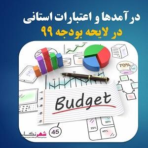 درآمدها و اعتبارات استانی در لایحه بودجه 99