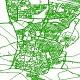 دانلود شیپ فایل معابر شهر قزوین