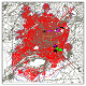 نقشه اتوکد شهر اردبیل