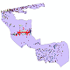 دانلود نقشه شیپ فایل آمار جمعیت نقاط شهری و نقاط روستایی شهرستان بهشهر از سال 1335 تا 1395