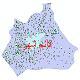 دانلود نقشه شیپ فایل آمار جمعیت نقاط شهری و نقاط روستایی شهرستان قائمشهر از سال 1335 تا 1395