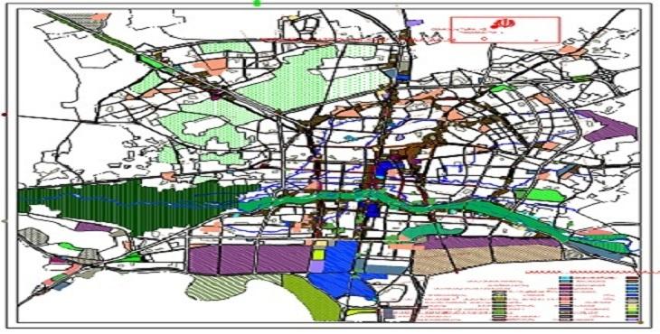 نقشه اتوکد شهر اصفهان