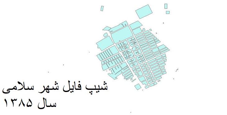 دانلود شیپ فایل بلوک های آماری شهر سلامی