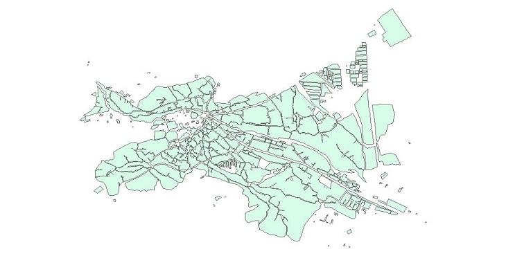 دانلود شیپ فایل بلوک های آماری شهر شهمیرزاد