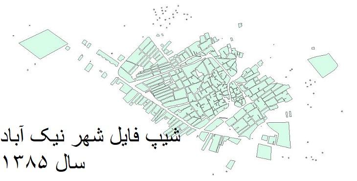 دانلود شیپ فایل بلوک های آماری شهر نیک آباد