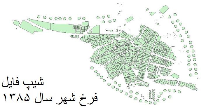 دانلود شیپ فایل بلوکهای آماری فرخ شهر سال 1385
