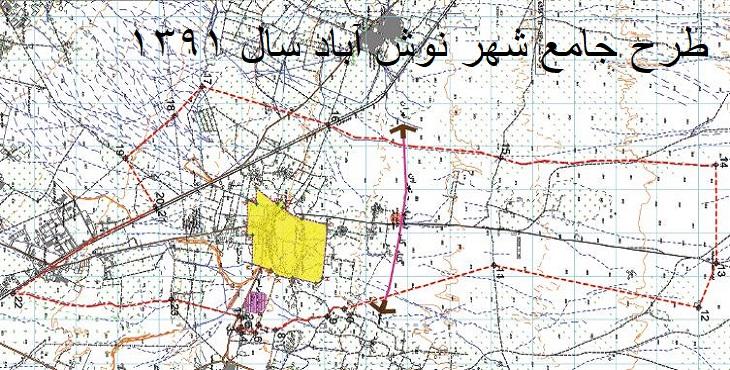 دانلود طرح جامع شهر نوش آباد سال 1391