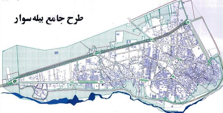 دانلود طرح جامع شهر بیله سوار سال 1387