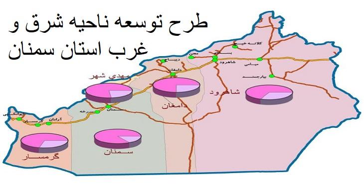 طرح توسعه و عمران ناحیه شرق و غرب استان سمنان