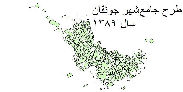 دانلود طرح جامع شهر جونقان سال 1389