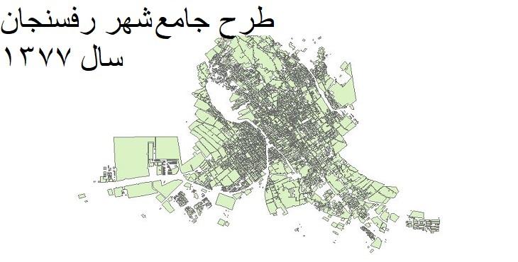 دانلود طرح جامع شهر رفسنجان سال 1377