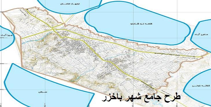 دانلود طرح جامع شهر باخزر سال 1392