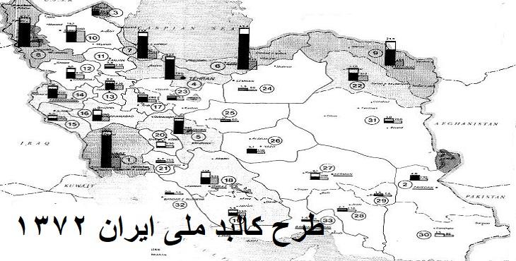 دانلود طرح کالبد ملی ایران سال 1372