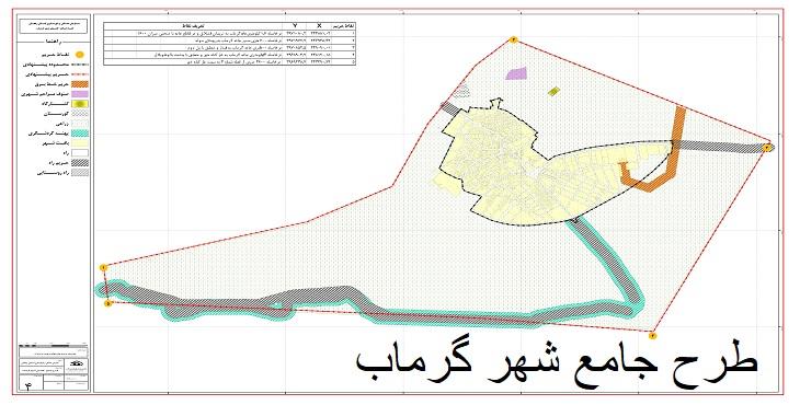 دانلود طرح جامع-تفصیلی شهر گرماب