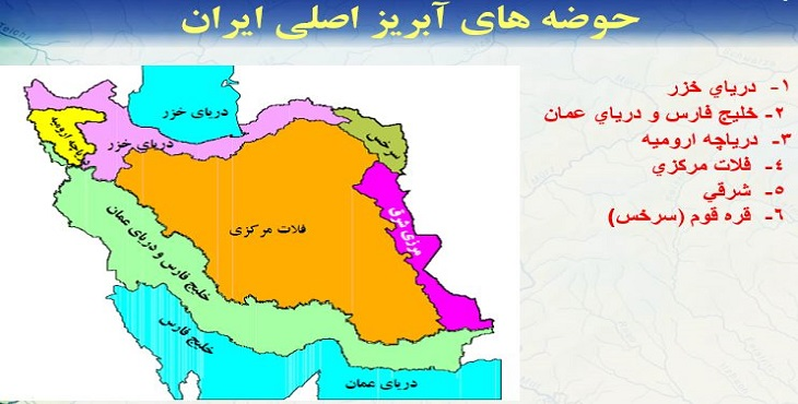 دانلود پاورپوینت حوضه های آبریز ایران