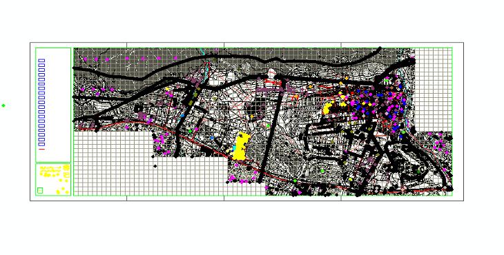 دانلود نقشه اتوکد بلوکهای شهری منطقه 22 تهران