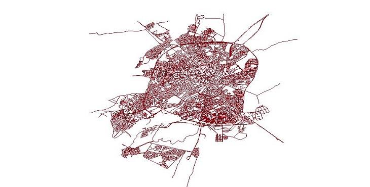 دانلود شیپ فایل معابر شهر اردبیل