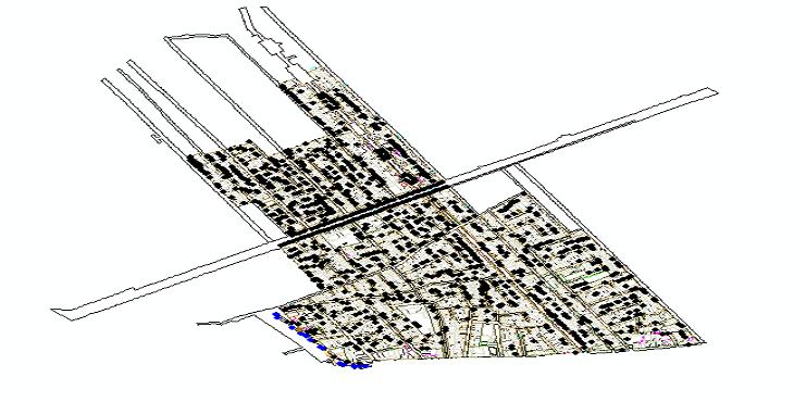 نقشه اتوکد طرح تفصیلی منطقه 10 شهر اصفهان