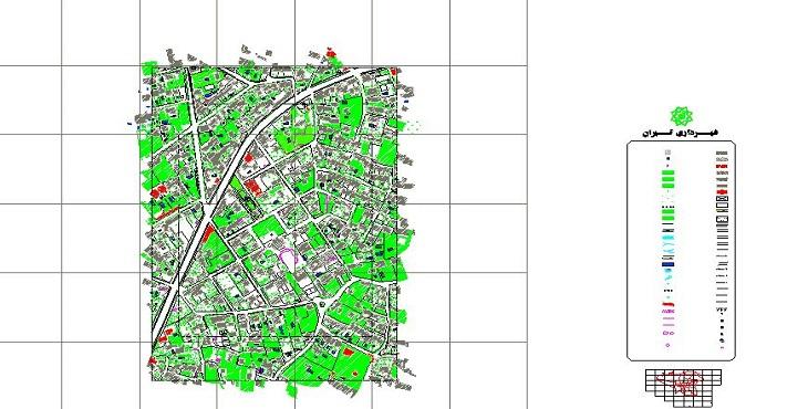 نقشه اتوکد محله باغ فردوس