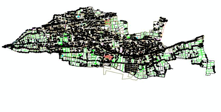 نقشه اتوکد طرح تفصیلی منطقه 9 شهر اصفهان