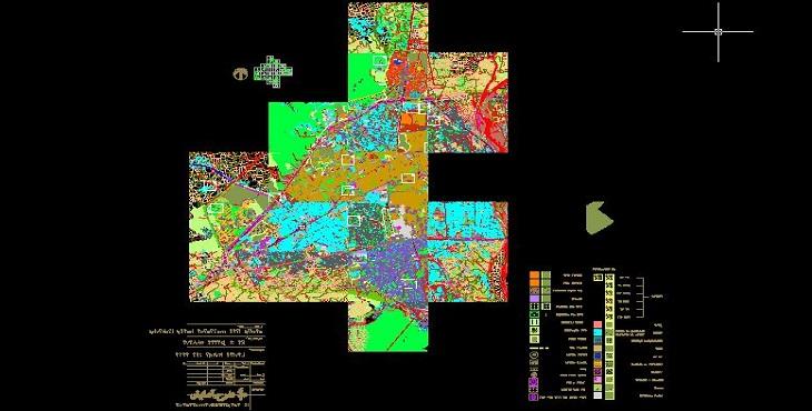 نقشه اتوکد شهر ساری