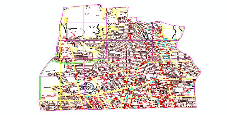 دانلود نقشه اتوکد بلوکهای شهری منطقه 6 تهران