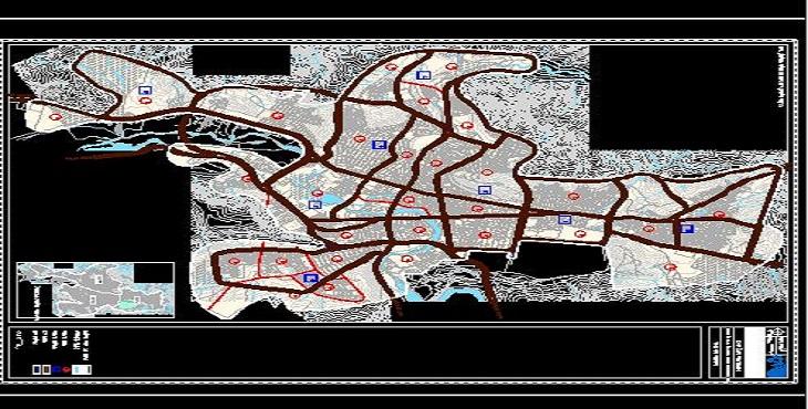 دانلود فایل اتوکد شهر مهاباد (2) سال 1391