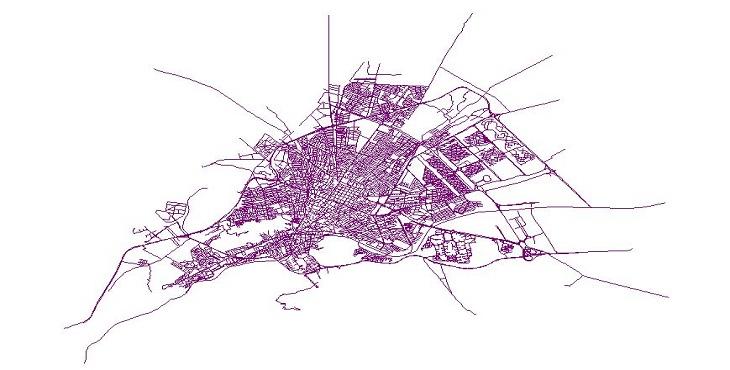 دانلود شیپ فایل معابر شهر اراک
