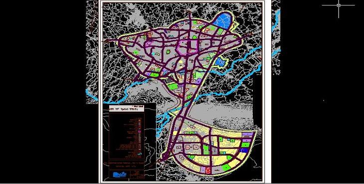 دانلود فایل اتوکد شهر خوی (2) سال 1391