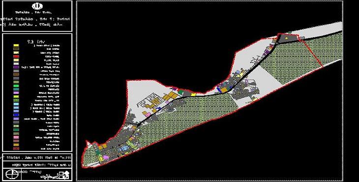 نقشه اتوکد طرح تفصیلی بندر جاسک