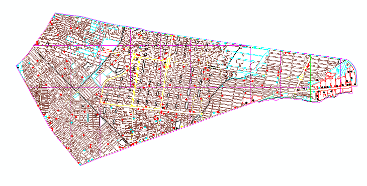 نقشه منطقه 8 شهر تهران