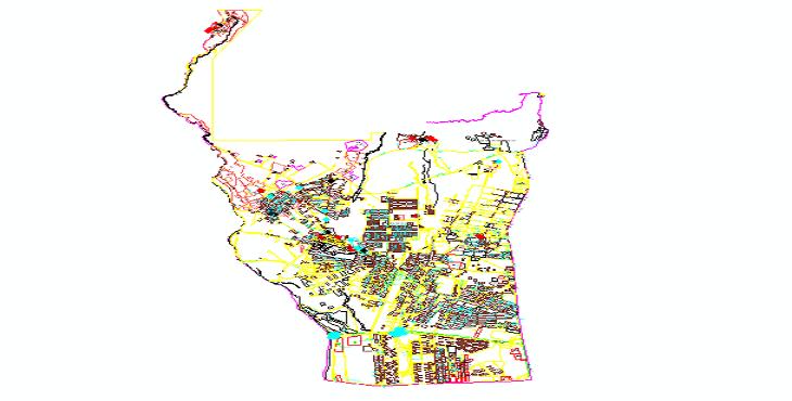 دانلود نقشه اتوکد بلوکهای شهری منطقه 5 تهران