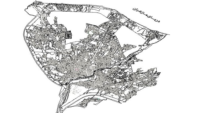 نقشه اتوکد شهر چالوس