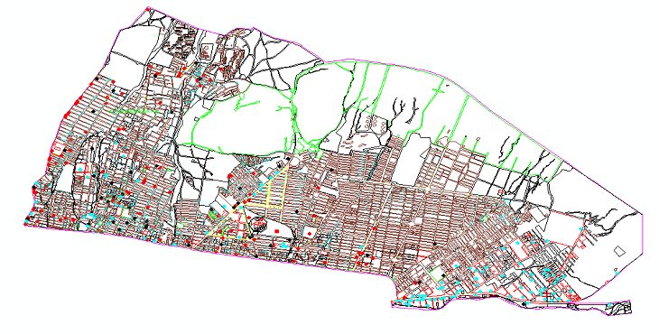 دانلود نقشه اتوکد بلوکهای شهری منطقه 4تهران