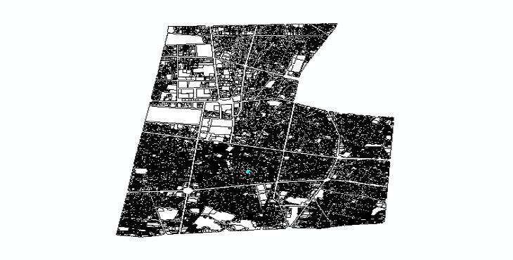 نقشه اتوکد منطقه 12 شهر تهران