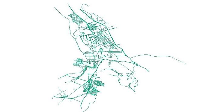 دانلود شیپ فایل معابر شهر خرم آباد