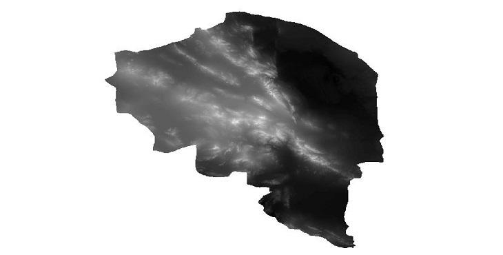 دانلود نقشه ارتفاعی دم (dem) استان کرمان