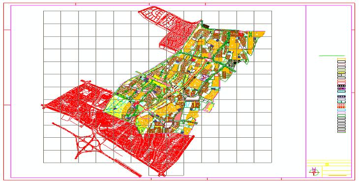 دانلود نقشه اتوکد شهر هشتگرد