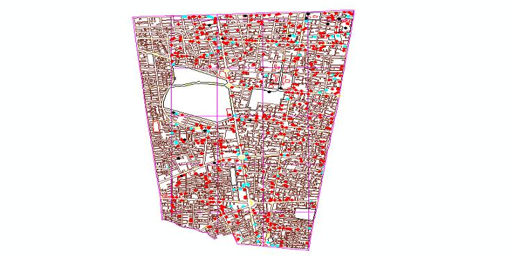دانلود نقشه اتوکد منطقه 11 تهران