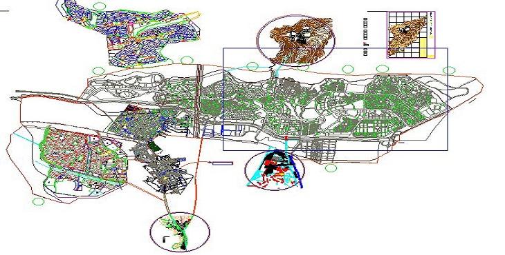 نقشه اتوکد شهر پردیس