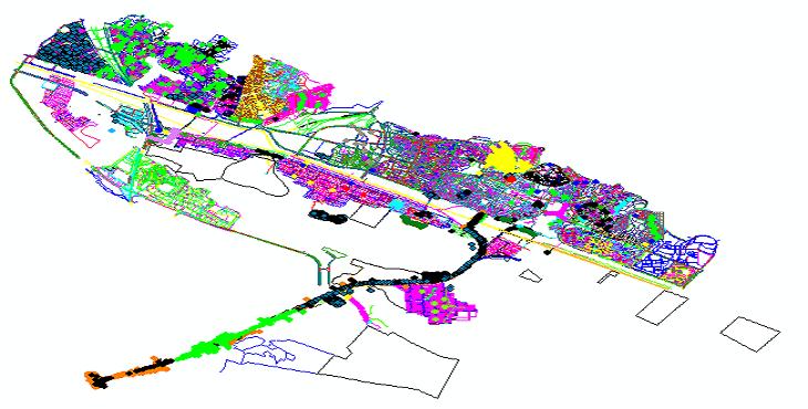 دانلود نقشه اتوکد طرح تفکیکی شهر صدرا