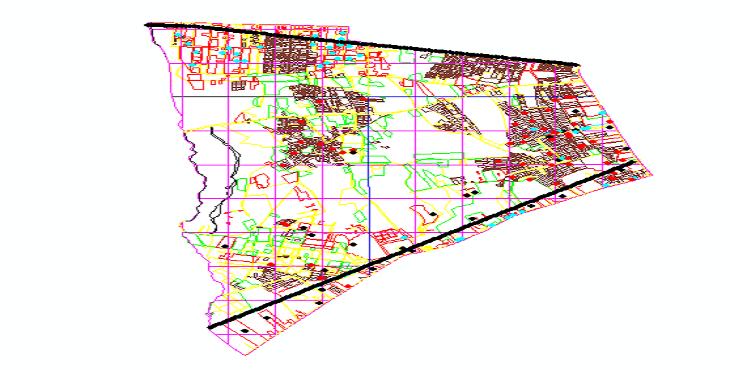 نقشه اتوکد منطقه 18 شهر تهران