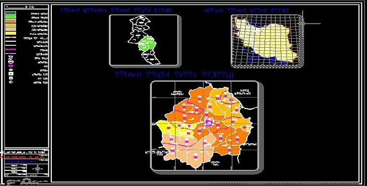 نقشه اتوکد طرح توسعه و عمران ناحیه اردبیل
