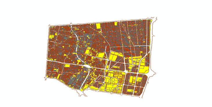 دانلود شیپ فایلهای طرح تفصیلی منطقه 14 شهر تهران