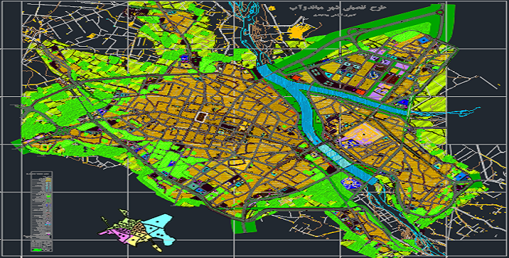 دانلود نقشه اتوکد شهرمیاندوآب