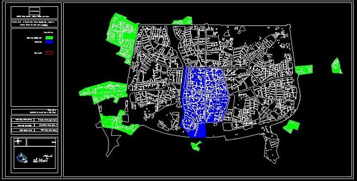 نقشه اتوکد شهر سراب