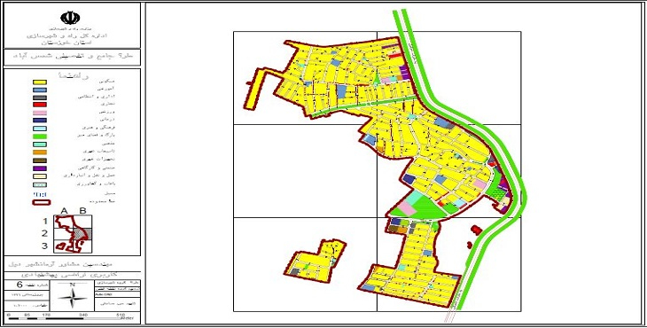 دانلود نقشه کاربری اراضی پیشنهادی طرح جامع-تفصیلی شهر شمس آباد