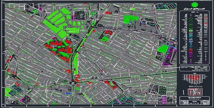 نقشه اتوکد شهر ری