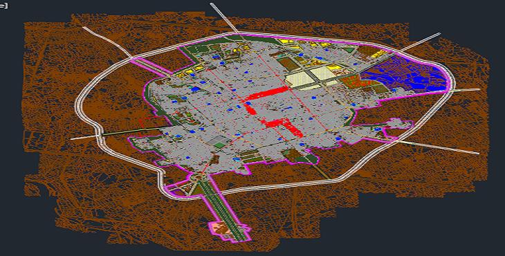 نقشه اتوکد شهر زابل