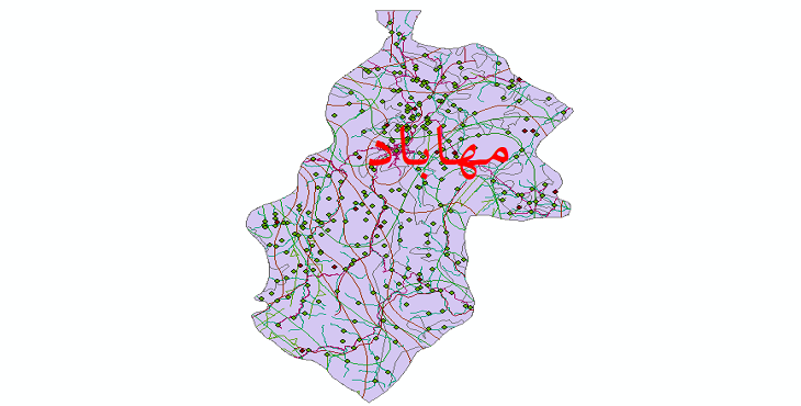 دانلود لایه جی ای اس و شیپ فایل های شهرستان مهاباد